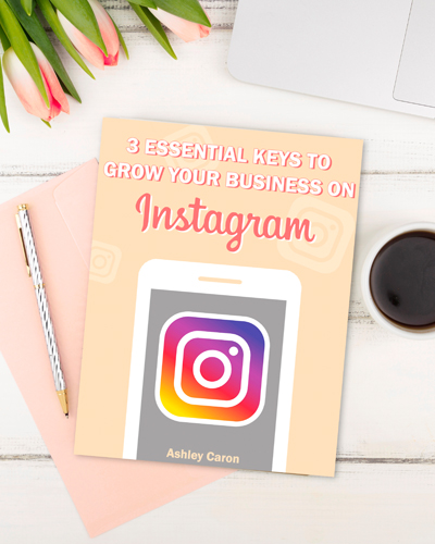 grow your business on Instagram flatly on white desk